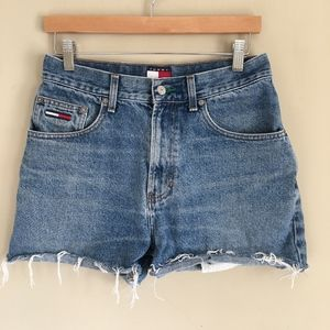 TOMMY HILFIGER Vintage Wight Waisted Cutoff Shorts